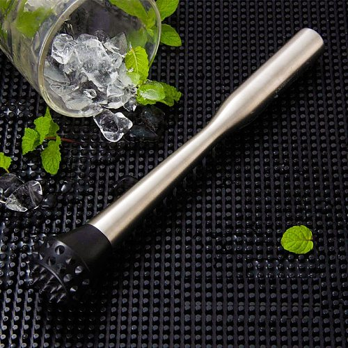 Professional Drink Muddler - Ideal Bartender Tool for Old Fashioned & Mojitos Muddler Stainless Steel w/Hedgehog head
