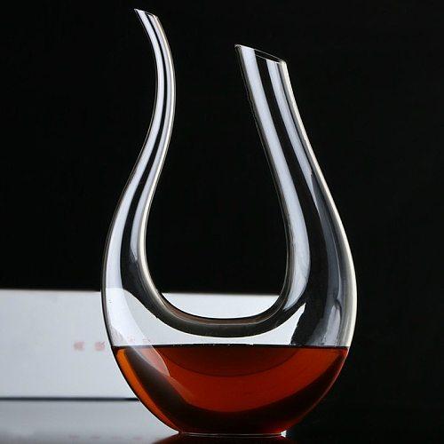 U-shaped wine decanter gift box harp swan decanter Crystal creative wine separator