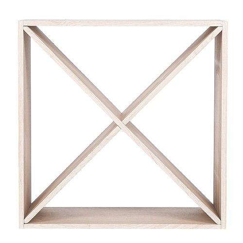4 Cube Wooden Wine Rack Holds 12-16 Bottles Classic Style whisky Racks for Bottles for Bar Wine Cellar Basement Cabinet Kitchen