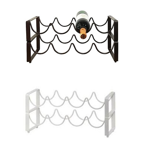 Tabletop Stackable Wine Rack,Double Layer Wine Bottle Storage Holder,Home Decorations for Cabinet Cupboard Countertop