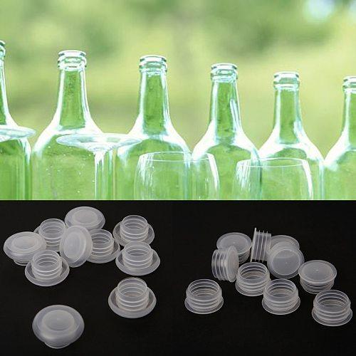 10PCS Home Brew Beer Bottle Stopper Home Brew Wine Bottle Caps Stoppers Plastic Plug Kitchen Bar Tool Glass Saver Sealer