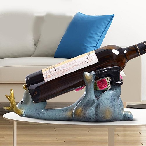 Lying Deer Wine Rack Resin Crafts Creative Living Room Elk Wine Rack Cabinet Ornaments Home Decoration