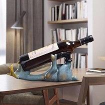 Lying Deer Resin Wine Rack Whisky Holder Shelf Wine Rack Stand Holders Sculpture Wine Stand Home Decoration Accessories