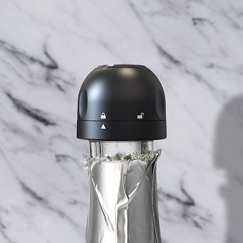 ABS Wine Bottle Cap Stopper Vacuum Sealer Wine Stopper Fresh Wine Keeper Champagne Stopper Cork Kitchen Bar Tools