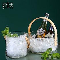 Glass Ice Bucket Home Large Bar Champagne Wine Creative Ice Contains Corona Beer Buckets