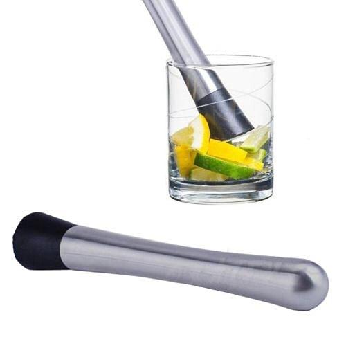 HOSPORT Bar Cocktail Muddler Stainless Steel Bar Mixer Barware Drink Mojito Cocktail DIY Drink Fruit Muddler Bar Tool