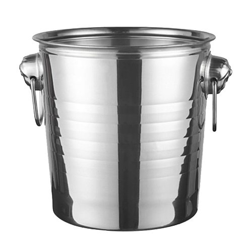 Best Stainless Steel Ice Bucket for Bar Party Champagne Wine Barrel Silver
