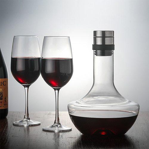 Bar Wine Accessories Glass Decanter Water Glasses Large For Family Bottle Jug Pourer Aerator Handmade Crystal 1400ML Breathing