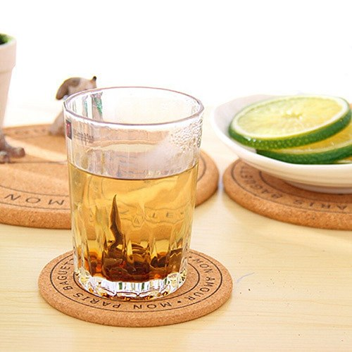 Multipurpose Heat Resistant Pad Wood Round Shape Cork Coaster Tea Drink Wine Coffee Cup Saucepan Mat Pad Table Decor