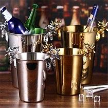 European champagne barrel rack stainless steel ice bucket bar KTV Wine Chiller Bottle Cooler Beer Chiller Ice Barrel Silver Gold
