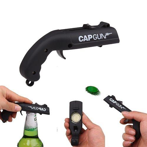 Creative Drink Corkscrew Flying Cap Launcher Bottle Portable  Gun Bar Tool  Beer  Opening  Shaped  Lids Shooter