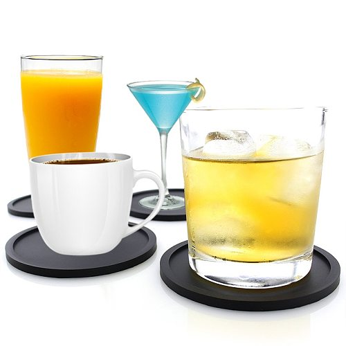 1pcs Color Pop Silicone Coaster Set Pack Of 1Reusable High Quality Heat Resistant Round Wine, Beer And Drink Coasters