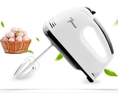 220V 100W 7 Speed Electric Handheld Food Whisk Beaters Household Mini Blenders Home Eggs Cake Food Mixer Beater