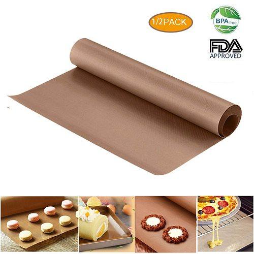 60X40Cm Reusable Big Baking Mat High Temperature Resistant Sheet Pastry Baking Bbq Non-Stick Grill Cake Mat Oven Tools Bakeware