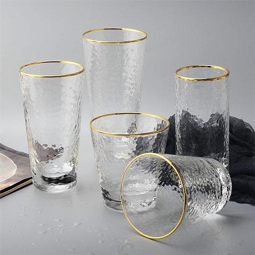 Wine Glass Mug Creative Coffee Mug Tea Beer Drinking Glass Cup Double Bottom Mug Transparent  Whiskey Wine Glasses Drinkware
