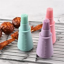 Portable Barbecue Tools Silicone Temperature Resistant BBQ Basting Brushes Oil Bottle Brush Kitchen Gadgets Baking Accessories