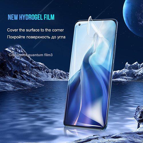 3Pcs Full Cover For Xiaomi Redmi Note 10 Pro Max 9 9S 9T 8 Screen Protector Hydrogel Film Mi Note 10 Lite 10T 11 Ultra No Glass