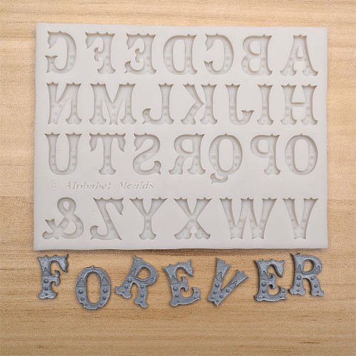 New 3D Capital Letters Silicone Mold Alphabet Chocolate Fondant Molds Fondant Cake Decorating Tools Sugar Paste Candy Moulds
