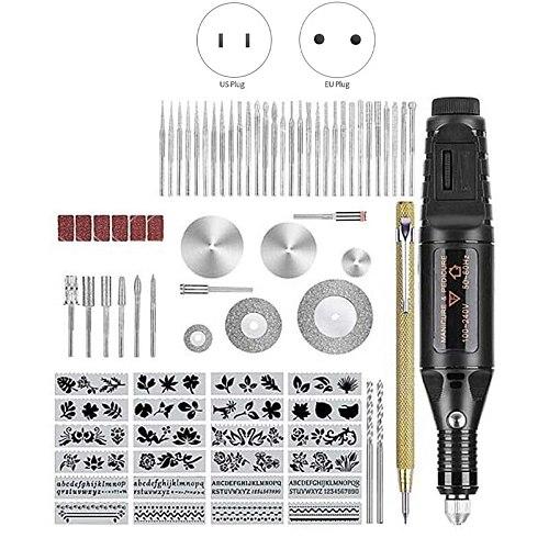 78 PCs Electric Engraving Tool Kit, Engraver with Scriber Etcher, Adjustable Speed DIY Etching Pen