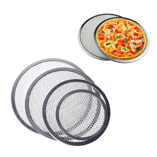 2021 New Aluminum Mesh Grill Pizza Screen Round Baking Tray Net Kitchen Tools Ovens Kit