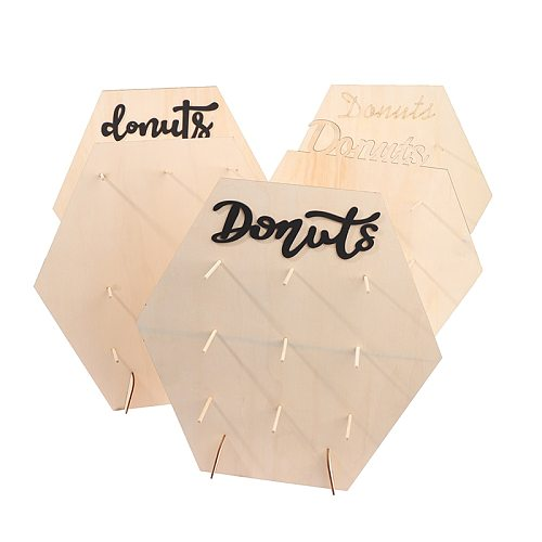 1PC Wedding Birthday Party Decor Donuts Wall Stand Wooden Dessert Cake Display Rack Christmas Party Supplies Dropshipping