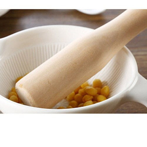 Unvarnished Wooden Food Muddler Grinding Rod Wood Pestle Professional Muddler - Theaceae