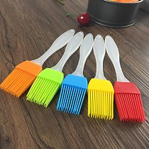 1pc Multi Color Silicone Basting Pastry Brush Oil Brushes For Cake Bread Butter Baking Tools Safety BBQ Barbeque Brush