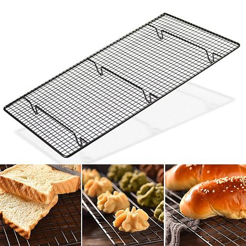 1pc Non Stick Thicken Cake Cooling Rack Bread Grid Net Tray Biscuit Holder Shelf Home Kitchen Supplies Cooking Baking Tools