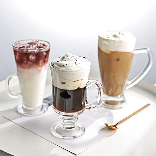 Coffee Mug Glass Cup Receptacle Mug Thermal Cup Drinkware Friends Gift for Drinking Milk Tea Fruit Juice Coffee Latte