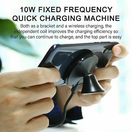 Wireless Fast Car Charger 10W Qi Wireless Fast Car Charger Magnetic Mount Holder For iPhone 12 11 Pro Max GPS Stand phone holder