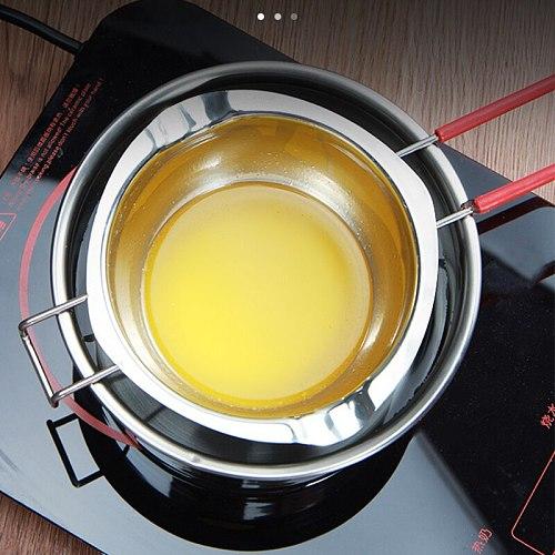 Stainless Steel Universal Boiler Insert Chocolate Fondant Caramel Melt Bowl Butter Pot Pan Baking Cheese Heating BV789