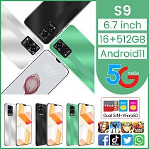 6.7inch Galax S9 Smartphones MTK6889+ Android11 6000mAh Dual SIM 16GB RAM 512GB ROM 32+64MP 5G LTE Hot Sell Global Mobile Phones