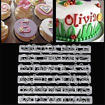 6PCS/set Russian Letters Kitchen Fondant Plastic Alphabet Letter Number Mold Cake Decorating Tools Set Baking Cookie Cutter
