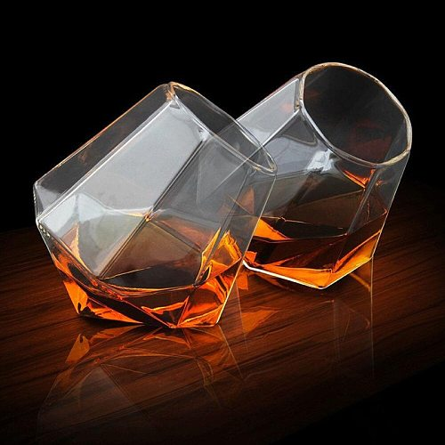 400ml Round Mouth Rotation Whiskey Glass Cup For Drinking Whiskey Beer And Red Wine Glasses Cup Bar Wine Set