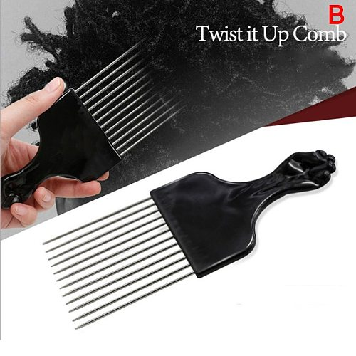 New African Hairdressing Twist Wave Curly Hair Comb Professional Salon Barber Mesh Sponge Tin Foil Hot Brush Hairdressing Tool