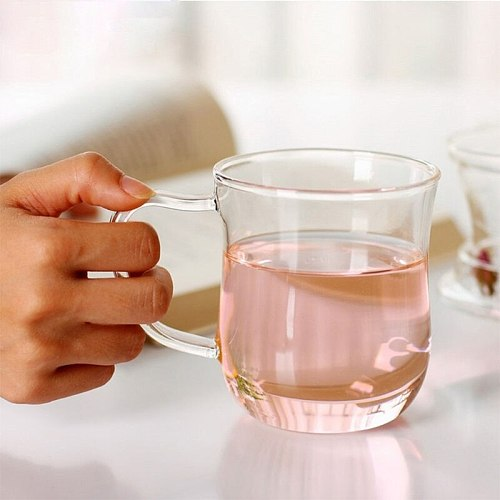 Transparent Clear Glass Milk Mug Coffee Tea Cup Teapot Kettle With Tea Infuser F QXNA