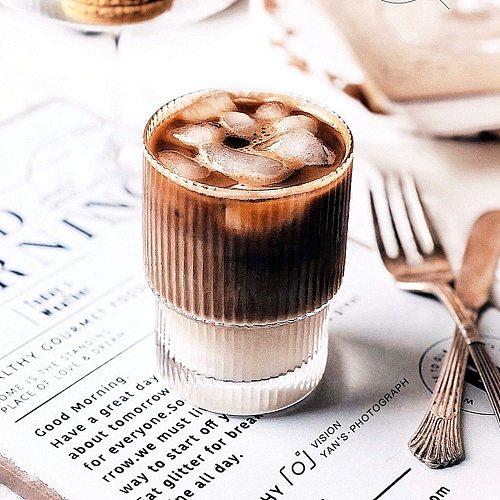 Origami Style Glass Cup Transparent Tea Coffee Mug Ice Beer Cup Heat Resistant Insulated Glass Cup Creative Milk Juice Mug