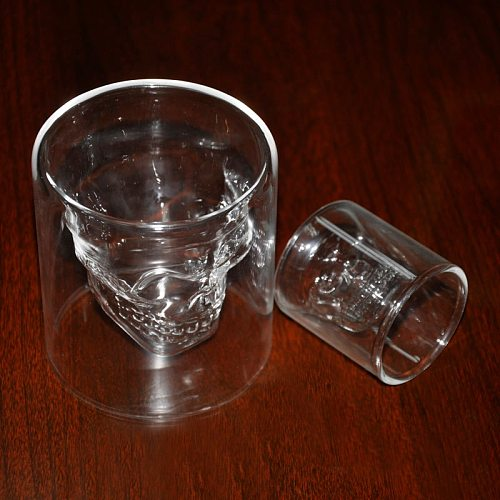 Crystal Skull Head Vodka Whiskey Shot Glass Cup Drink Ware Home Bar New