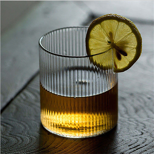 Japanese-Style Ripple Whisky Glass Vertical Lines  Coffee Cup Transparent Beer Mug  Drinking Glasses For Juice 2021 Hot Selling