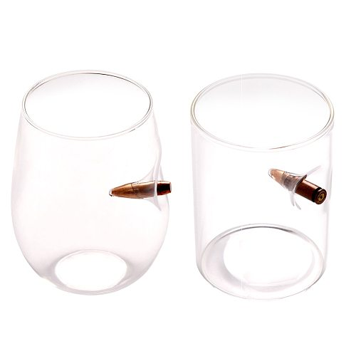 Lucky Bullet Glass Innovative Wine Glass Creative Glass Bullet Shaped Whiskey Cup Bar Cups And Party Creative Cups