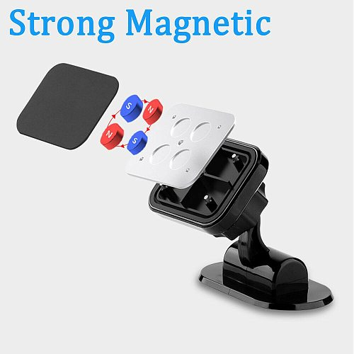 Magnetic Car Phone Holder Gps Mount Holder 360 Degree Magnet Phone Stand For Iphone 12 11 Pro Huawei Xiaomi Gps
