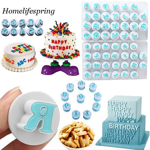 Baking pastry Mold Upper Lowercase Alphabet Cookie Letters Number Biscuit Mold Hand Stamp Press Plunger Cutter Maker Cake Tools