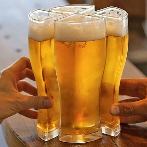 12.3x10.5x7.5cm Super Schooner Beer Glasses Mug Cup Separable 4 Part Large Capacity Thick Beer Mug Glass Cup For Club Bar Party
