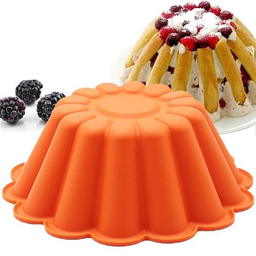 Fondant Craft Molds Cake Pan Heat Resistant Silicone Non-stick Flower Shape DIY Cake Mold Baking Pan Pastry Baking Tool Mould