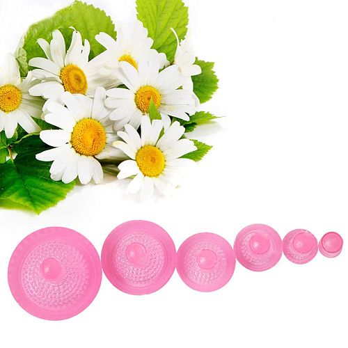 6pcs Cookie Cutter Embossing Cake Mold Daisy Flowers Forms For Cookie Pastry Wedding Cake Decorating Tools