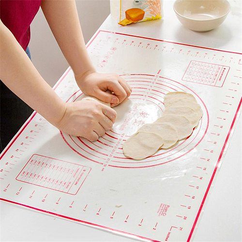 Silicone Rolling Pins & Pastry Boards Fiberglass Baking Sheet Rolling Dough Pastry Cakes Bakeware Liner Pad Mat Oven Tool