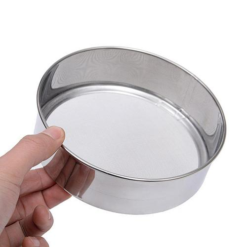 40 Mesh/1 Inch Flour Sieve Stainless Steel Mesh Flour Sifting Sifter Sieve Strainer Baking Bakeware Kitchen Baking Pastry Tools