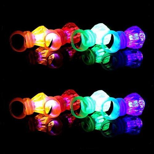 5 Pcs Multi-color Bright LED Laser Finger Ring Light Lamp Beams Torch for Party KTV Bar Gift