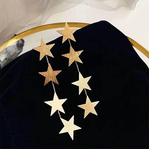Multi Layer Stars Long Earrings For Women Gold-Color Etrendy New Elegant Drop Dangle Earrings Fashion Jewelry Wholesale