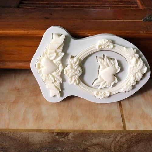 European love door and window silicone mold DIY fondant cake mold chocolate fudge mold baking utensils B090/B091